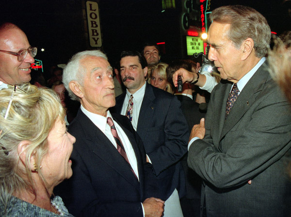 Pat Paulsen and Bob Dole in stare down.