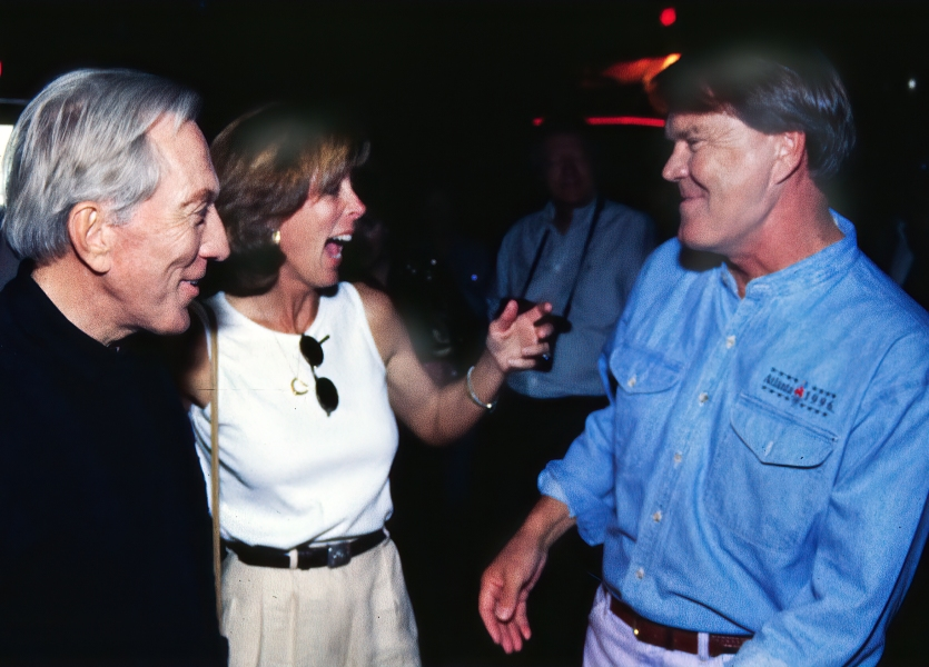 Andy and a very excited Debbie Williams greet Glen Campbell at his surprise 60th birthday party. ©John S. Stewart/OzarkStockPhotography.com