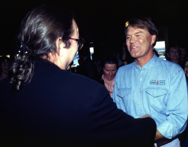 Glen Campbell greets long time friend Jimmy Webb.